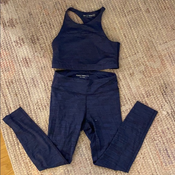Outdoor voices navy set. Selling as a set
